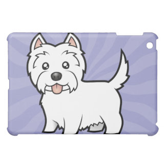 Cartoon West Highland White Terrier iPad Mini Covers