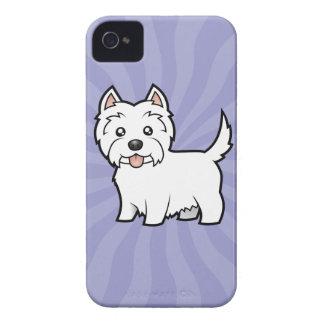 Cartoon West Highland White Terrier iPhone 4 Case-Mate Case