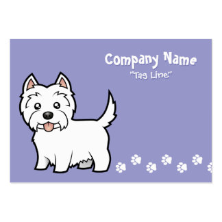 Cartoon West Highland White Terrier Pack Of Chubby Business Cards