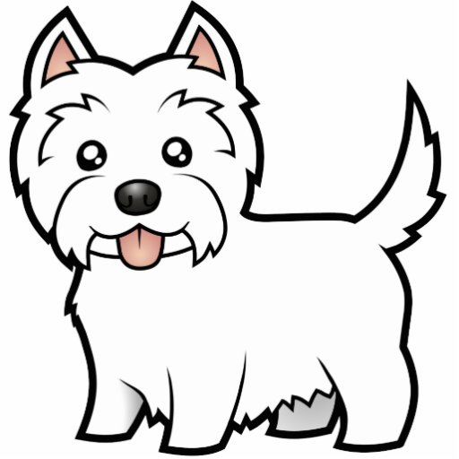 cartoon west highland white terrier photo cutouts zazzle westie clipart black and white clipart westie dogs