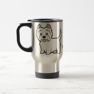 Cartoon West Highland White Terrier Travel Mug