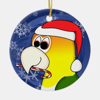 Cartoon White Bellied Caique Christmas Ornament