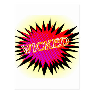 Cartoon Wicked Postcard
