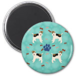Cartoon Wire Fox Terrier 6 Cm Round Magnet