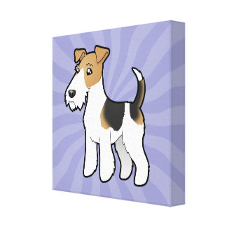 Cartoon Wire Fox Terrier Canvas Print