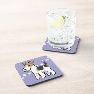Cartoon Wire Fox Terrier Coaster