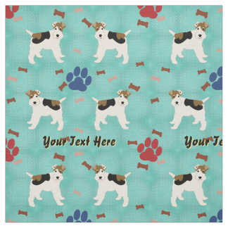 Cartoon Wire Fox Terrier Fabric