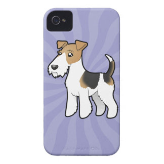 Cartoon Wire Fox Terrier iPhone 4 Case