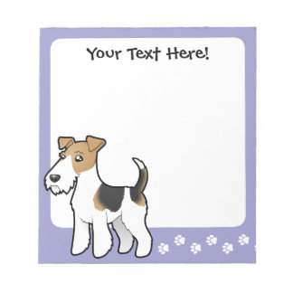 Cartoon Wire Fox Terrier Notepad