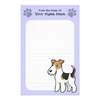 Cartoon Wire Fox Terrier Stationery