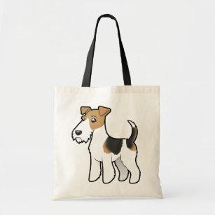 Cartoon Wire Fox Terrier Tote Bag