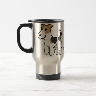 Cartoon Wire Fox Terrier Travel Mug