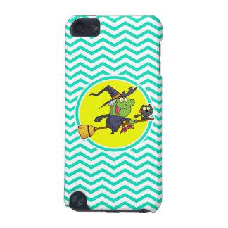 Cartoon Witch; Aqua Green Chevron iPod Touch 5G Covers