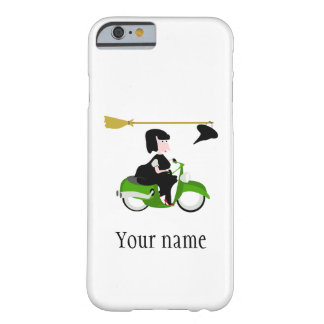 Cartoon Witch Riding A Green Moped Barely There iPhone 6 Case