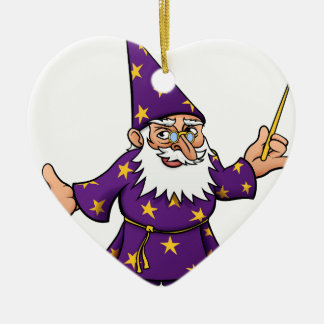Cartoon Wizard Ceramic Heart Decoration