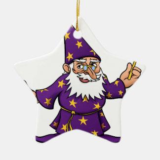 Cartoon Wizard Ceramic Star Decoration