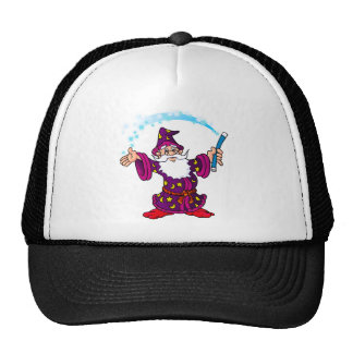 Cartoon Wizard Trucker Hats