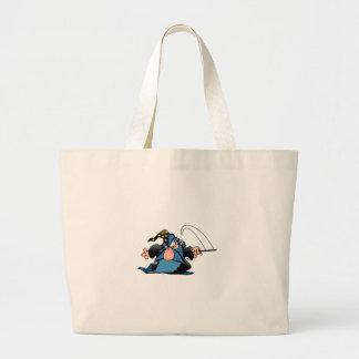 Cartoon Wizard Jumbo Tote Bag