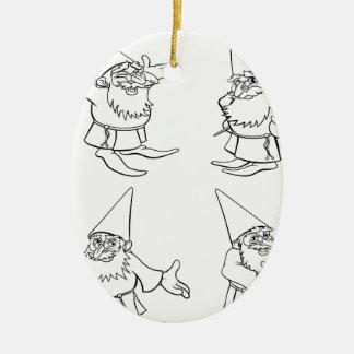 Cartoon Wizard Set Ceramic Oval Decoration