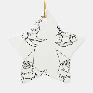 Cartoon Wizard Set Ceramic Star Decoration