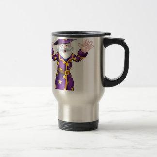 Cartoon Wizard Travel Mug