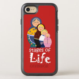 Cartoon Woman Funny Life Time Red Bold Matryoshka OtterBox Symmetry iPhone 7 Case