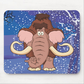 Cartoon Woolly Mammoth Mouse Pad