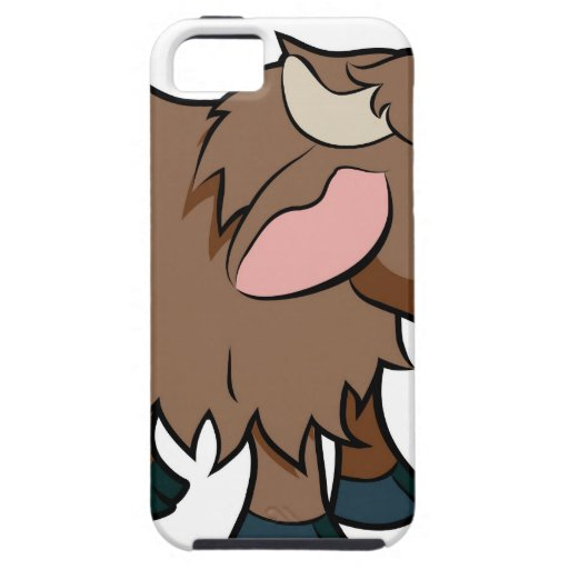 Cartoon Yak animal character Case For The iPhone 5