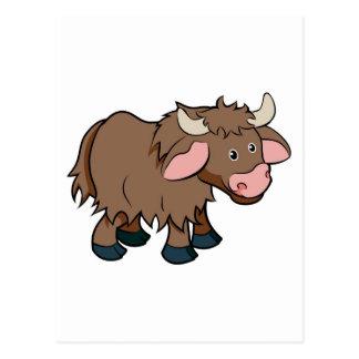 Cartoon Yak animal character Postcard