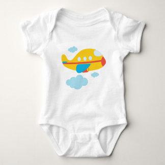 Cartoon Yellow Airplane Baby Bodysuit