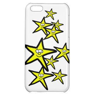 Cartoon yellow stars smiley faces phone case case for iPhone 5C