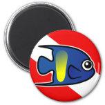 Cartoon Yellowbar Angelfish Dive Flag