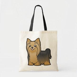 Cartoon Yorkshire Terrier (long hair no bow) Tote Bag
