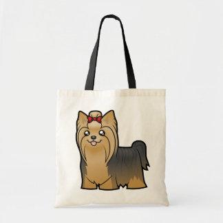 Cartoon Yorkshire Terrier (long hair with bow)