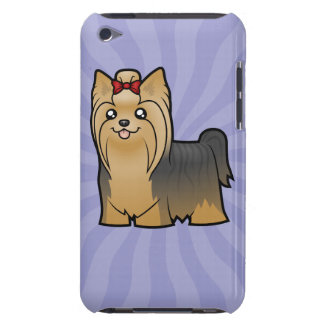 Cartoon Yorkshire Terrier (long hair with bow) iPod Touch Covers