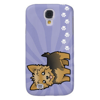 Cartoon Yorkshire Terrier (short hair no bow) Galaxy S4 Case