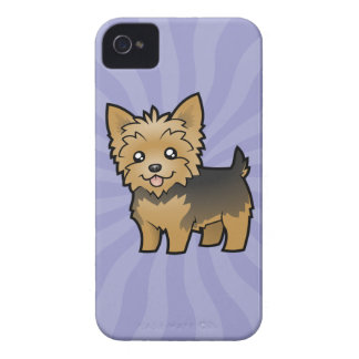 Cartoon Yorkshire Terrier (short hair no bow) iPhone 4 Case