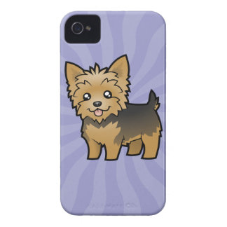 Cartoon Yorkshire Terrier (short hair no bow) iPhone 4 Cases