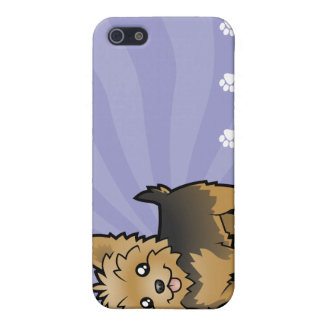 Cartoon Yorkshire Terrier (short hair no bow) iPhone 5/5S Case
