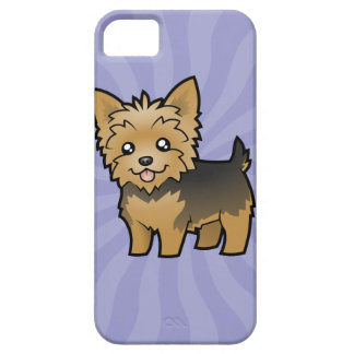 Cartoon Yorkshire Terrier (short hair no bow) iPhone 5 Cases