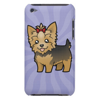 Cartoon Yorkshire Terrier (short hair with bow) Barely There iPod Case