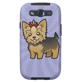 Cartoon Yorkshire Terrier (short hair with bow) Galaxy S3 Covers