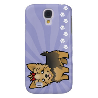 Cartoon Yorkshire Terrier (short hair with bow) Galaxy S4 Case