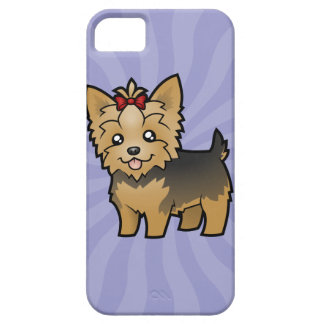Cartoon Yorkshire Terrier (short hair with bow) Case For The iPhone 5