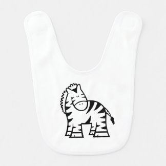 Cartoon Zebra Baby Bib