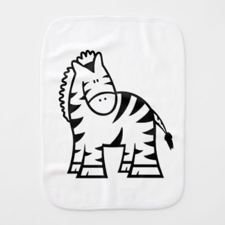 Cartoon Zebra Burp Cloth