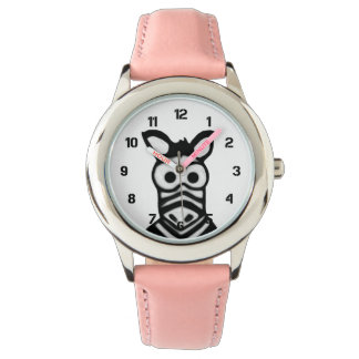 Cartoon Zebra Watch