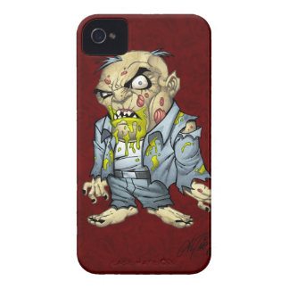 Cartoon Zombie Business Man Art by Al Rio iPhone 4 Case-Mate Case