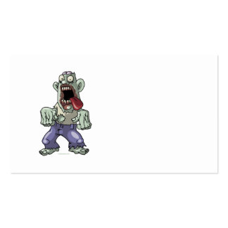 Cartoon Zombie Pack Of Standard Business Cards