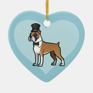 Cartoonize My Pet Ceramic Heart Decoration